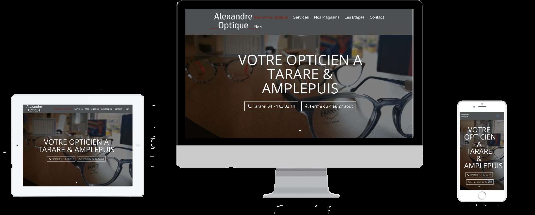 1e54a27625a1c7 Merci à l opticien Alexandre Optique de nous avoir confié la création du  site internet.