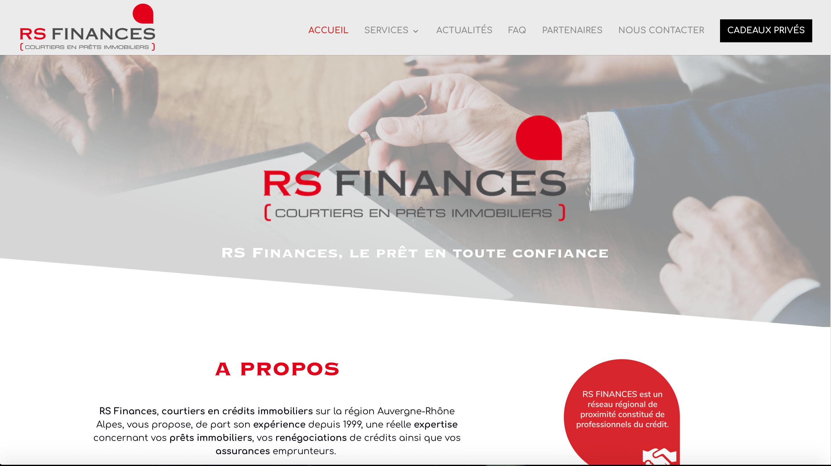 Nouveaux site internet : RS Finances