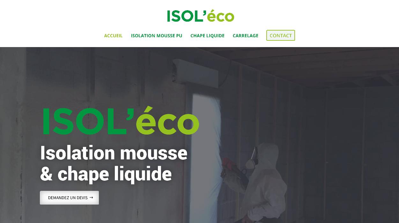 Isol'éco : Création d'un site web