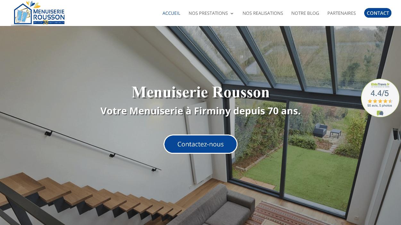 Menuiserie Rousson : Refonte de site internet
