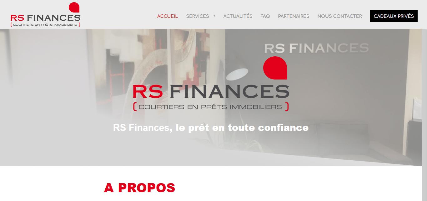 Webiliko: Création web : Courtier Saint-Etienne (Loire) - RS Finances_ prêt et assurance immob_ - www.rsfinances.com