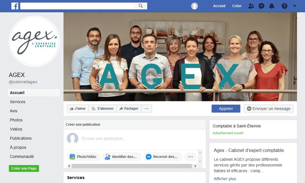 Webiliko: Page Facebook Cabinet Agex